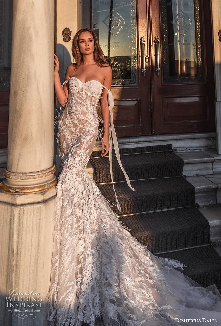 dimitrius dalia 2019 bridal off the shoulder sweetheart neckline full embellishment bustier romantic fit and flare wedding dress backless low back chapel train (13) mv