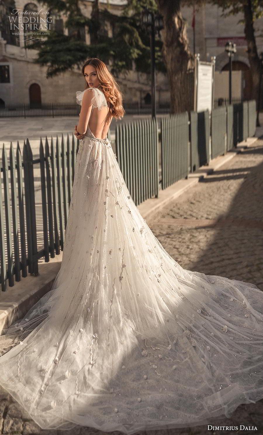 dimitrius dalia 2019 bridal ribbon spaghetti strap deep plunging sweetheart neckline full embellishment sexy romantic a  line wedding dress backless low back chapel train (2) bv