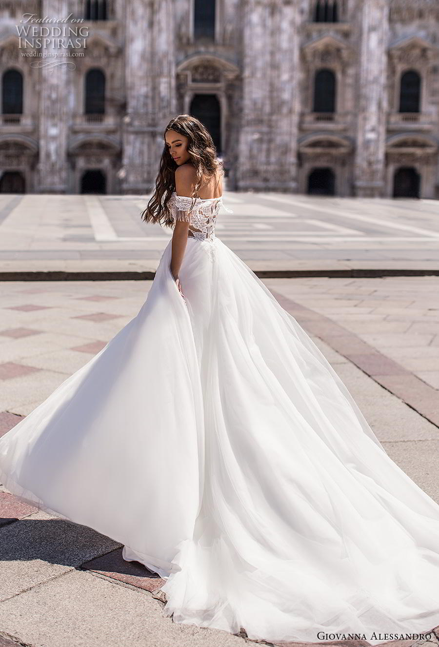 giovanna alessandro 2019 bridal off the shoulder deep plunging sweetheart neckline heavily embellished bodice slit skirt sexy soft a  line wedding dress chapel train (13) bv