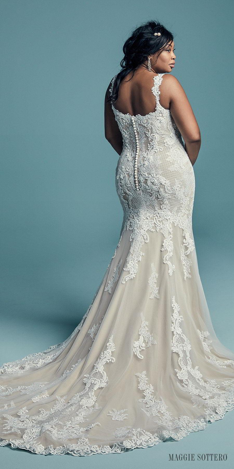 3aabbf3d6a4 maggie sottero fall 2018 bridal sleeveless with strap sweetheart neckline  full embellishment elegant mermaid wedding dress
