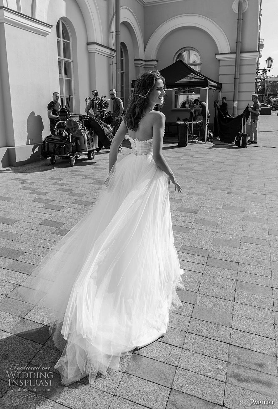 papilio 2019 bridal strapless sweetheart neckline heavily embellished bodice soft a  line wedding dress mid back chapel train (6) bv