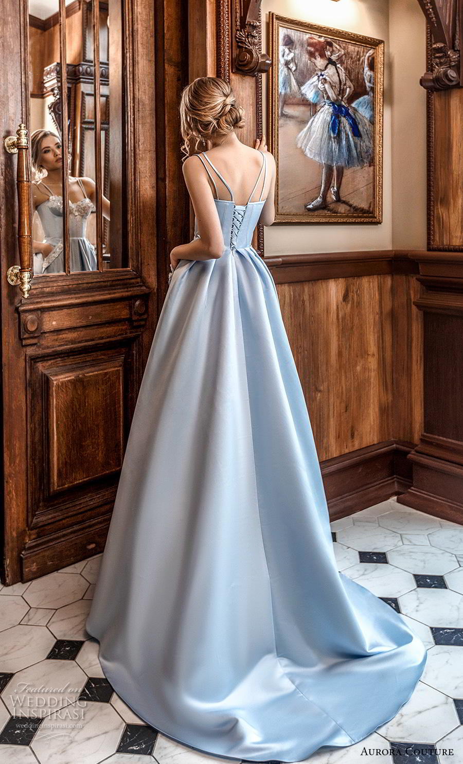 aurora couture 2019 bridal double strap sweetheart neckline heavily embellished bodice bustier blue ball gown a  line wedding dress corset back sweep train (17) bv