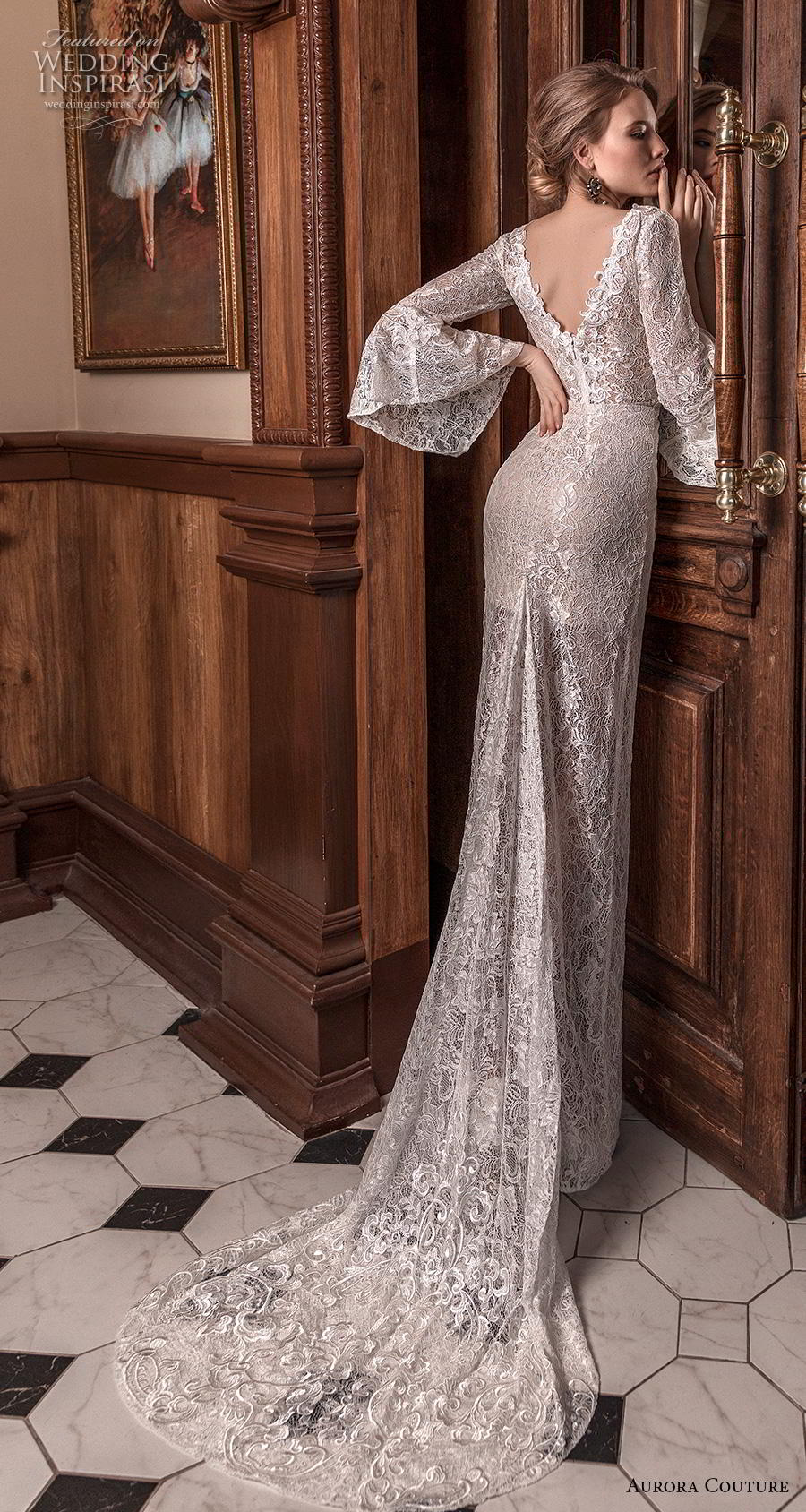 aurora couture 2019 bridal long lantern sleeves v neck full embellishment elegant sheath wedding dress v back sweep train (9) bv