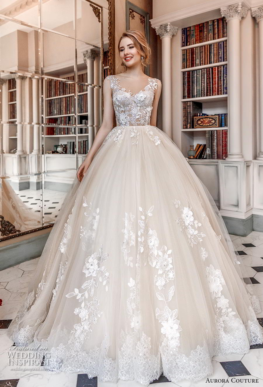 aurora couture 2019 bridal sleeveless with strap v neck heavily embellished bodice romantic ball gown a  line wedding dress corset back chapel train (12) mv