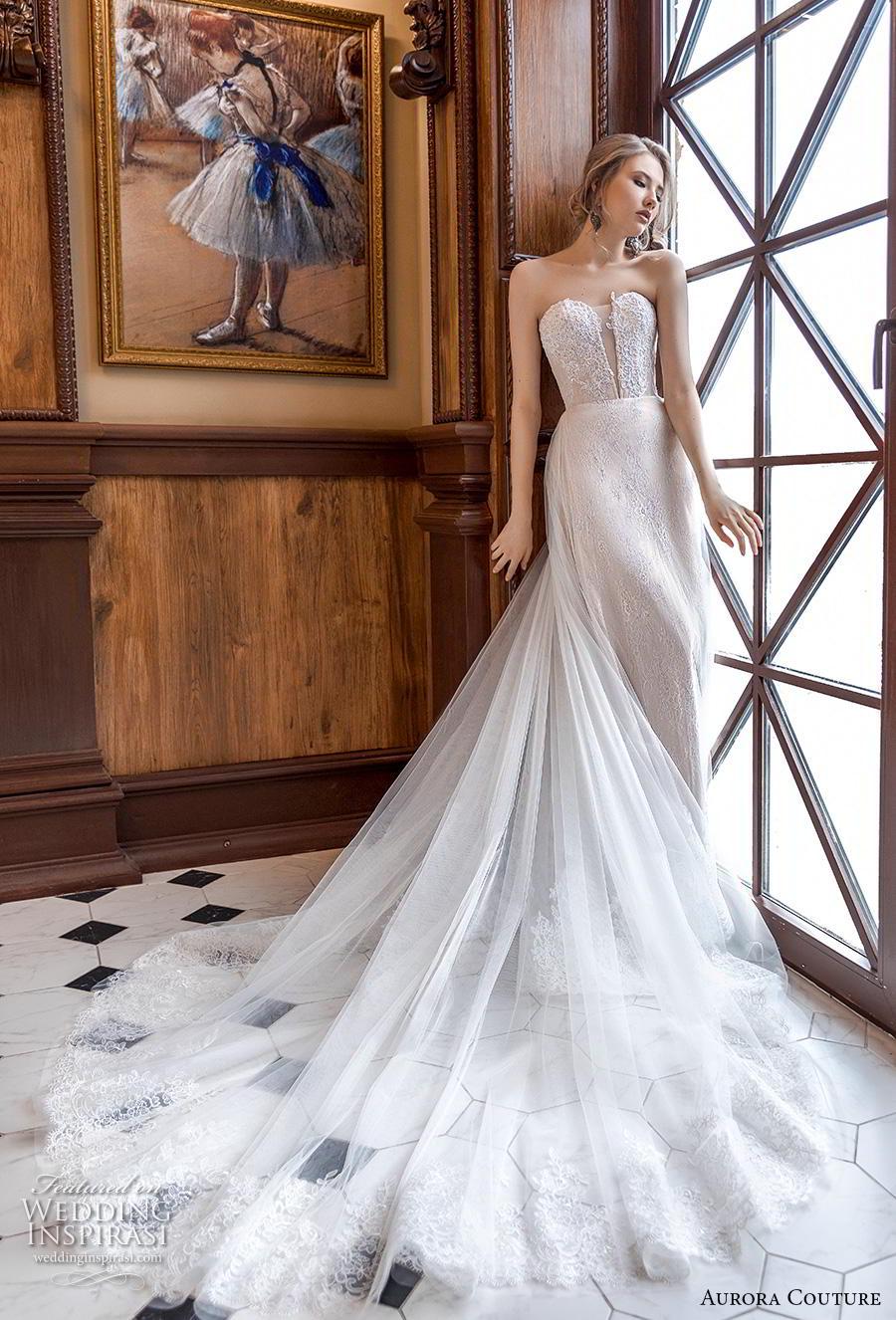 aurora couture 2019 bridal strapless sweetheart neckline heavily embellished bodice elegant a  line wedding dress chapel train (14) mv