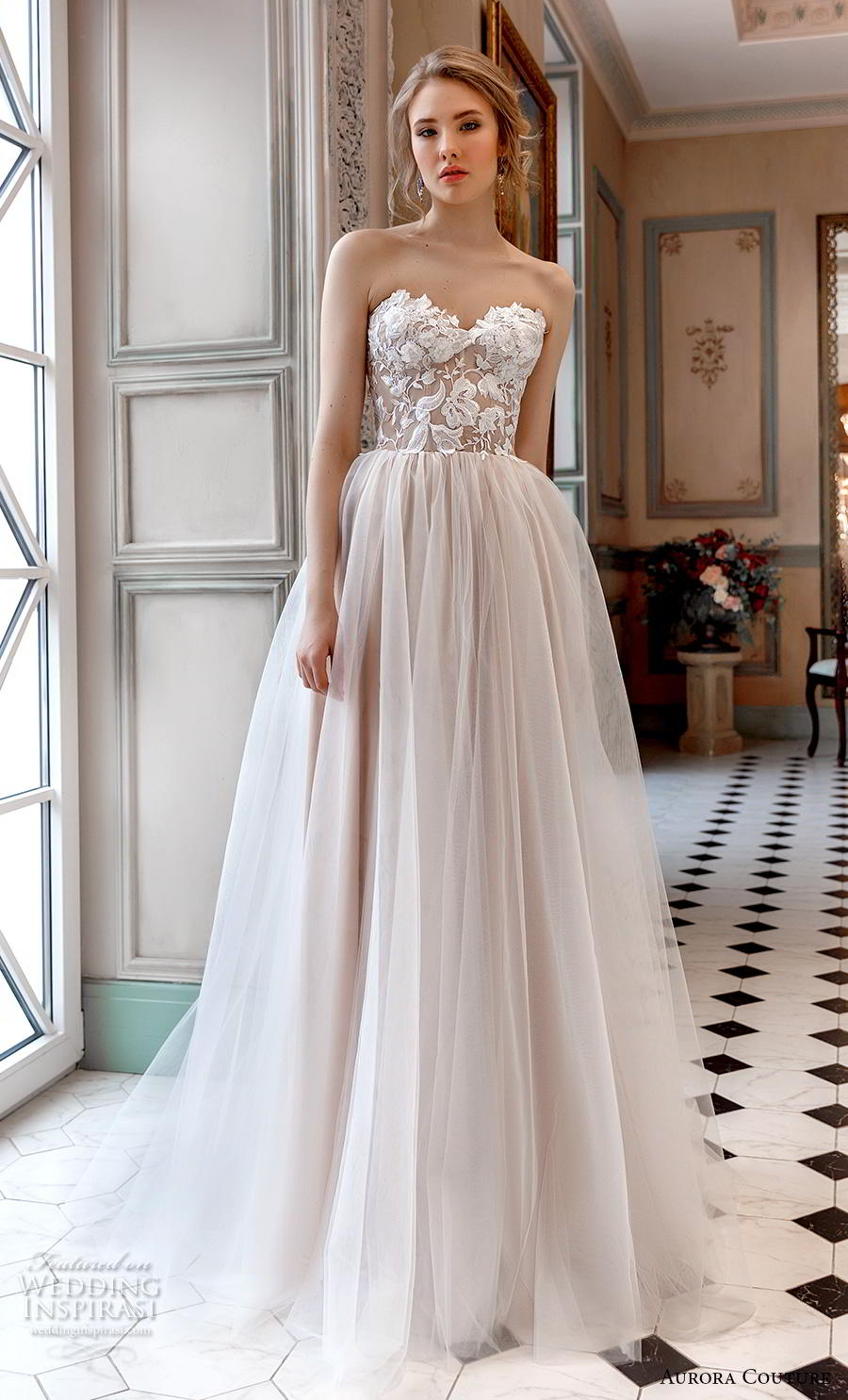 aurora couture 2019 bridal strapless sweetheart neckline heavily embellished bodice romantic ball gown a  line wedding dress (17) mv