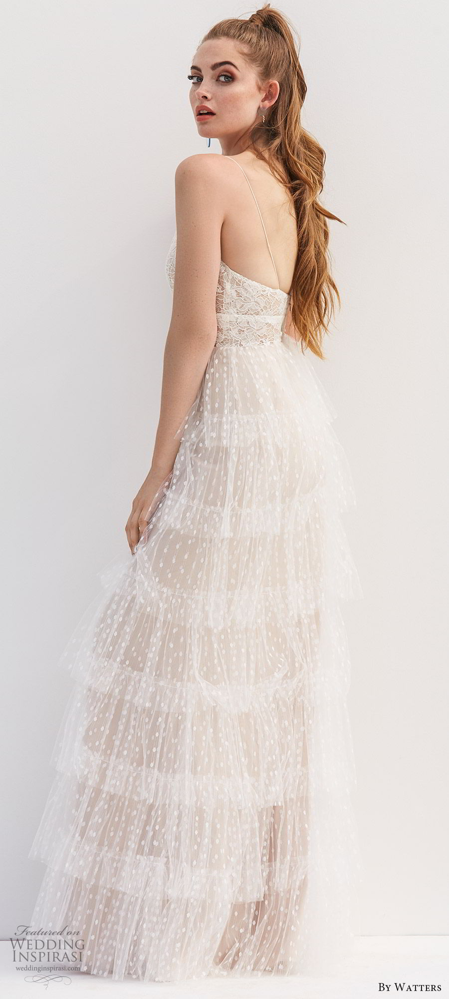 by watters 2020 bridal sleeveless thin straps v neck lace a line ball gown wedding dress (9) romantic boho chic champagne beige bv