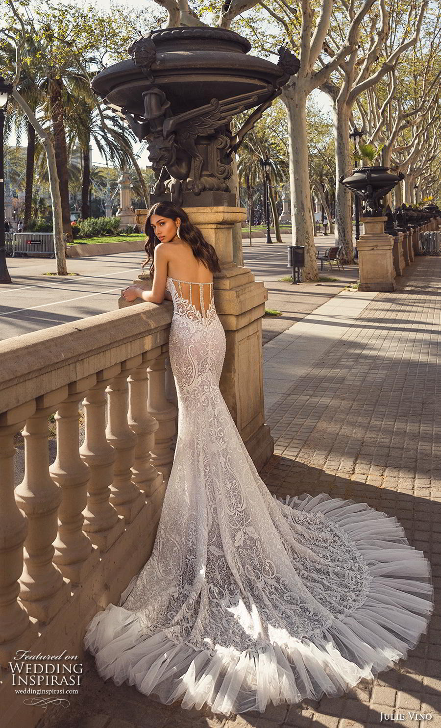 julie vino 2020 barcelona bridal strapless sweetheart neckline full embellishment elegant mermaid wedding dress sheer mid back chapel train (4) bv