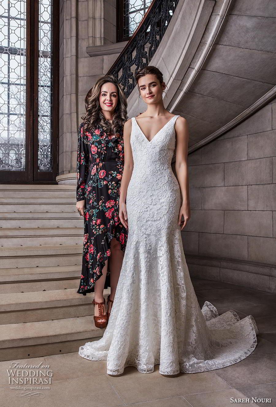 sareh nouri s2020 bridal sleeveless with strap v neck full embellishment elegant drop waist modified a  lline wedding dress backless v back chapel train (13) mv