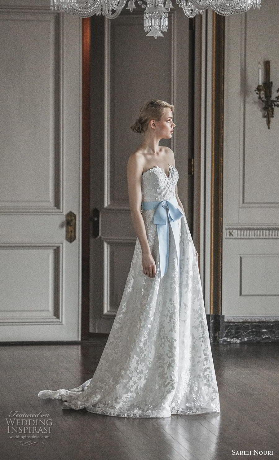 sareh nouri s2020 bridal strapless sweetheart neckline full embellishment romantic blue a  line wedding dress backless medium train (2) sdv