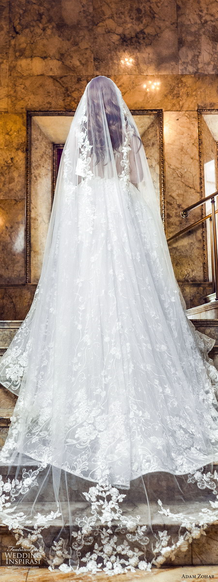 adam zohar 2020 bridal sleeveless sheer straps sweetheart fully embellished lace a line ball gown wedding dress (9) romantic princess chapel train veil bv