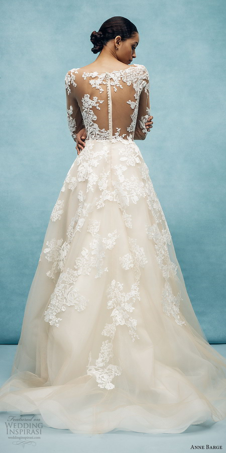 anne barge spring 2020 bridal illusion long sleeves sheer v neck sweetheart lace a line ball gown wedding dress (7) romantic classic chapel train bv