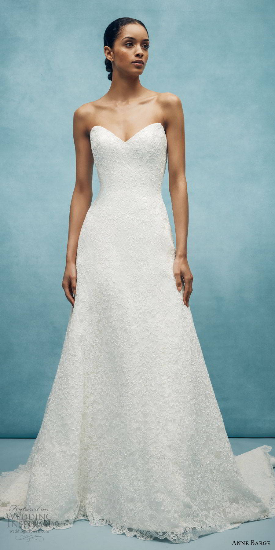 anne barge spring 2020 bridal strapless sweetheart embellished a line wedding dress (2) elegant classic chapel train mv