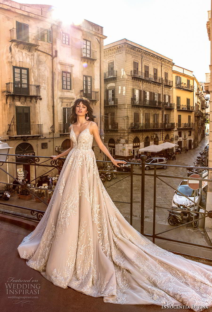 innocentia divina 2020 bridal sleeveless thin strap v neck full embellishment romantic a  line wedding dress backless v back royal train (2) mv