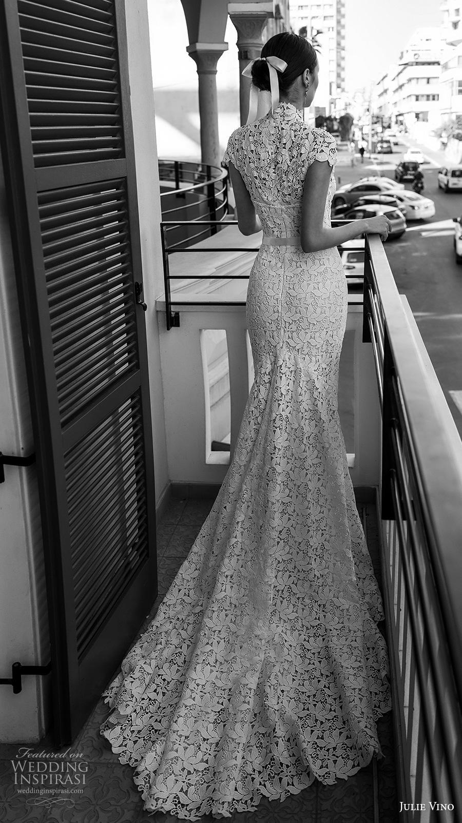 julie vino 2020 romanzo bridal cap sleeves illusion high neck sweetheart neckline full embellishment bustier elegant romantic fit and flare wedding dress covered back chapel train (4) bv