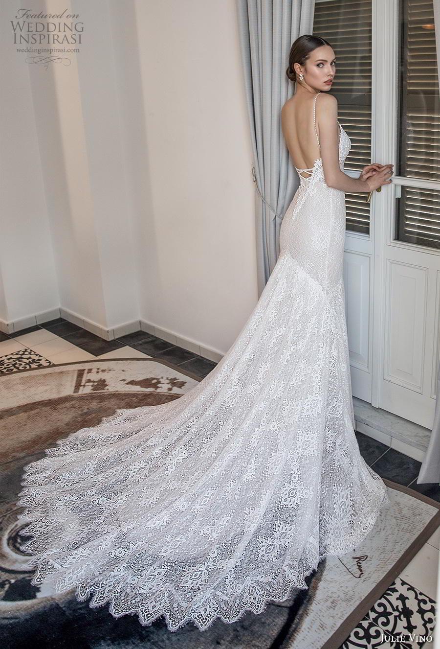 julie vino 2020 romanzo bridal thin strap deep sweetheart neckline full embellishment sexy glamorous mermaid wedding dress backless low back chapel train (1) bv