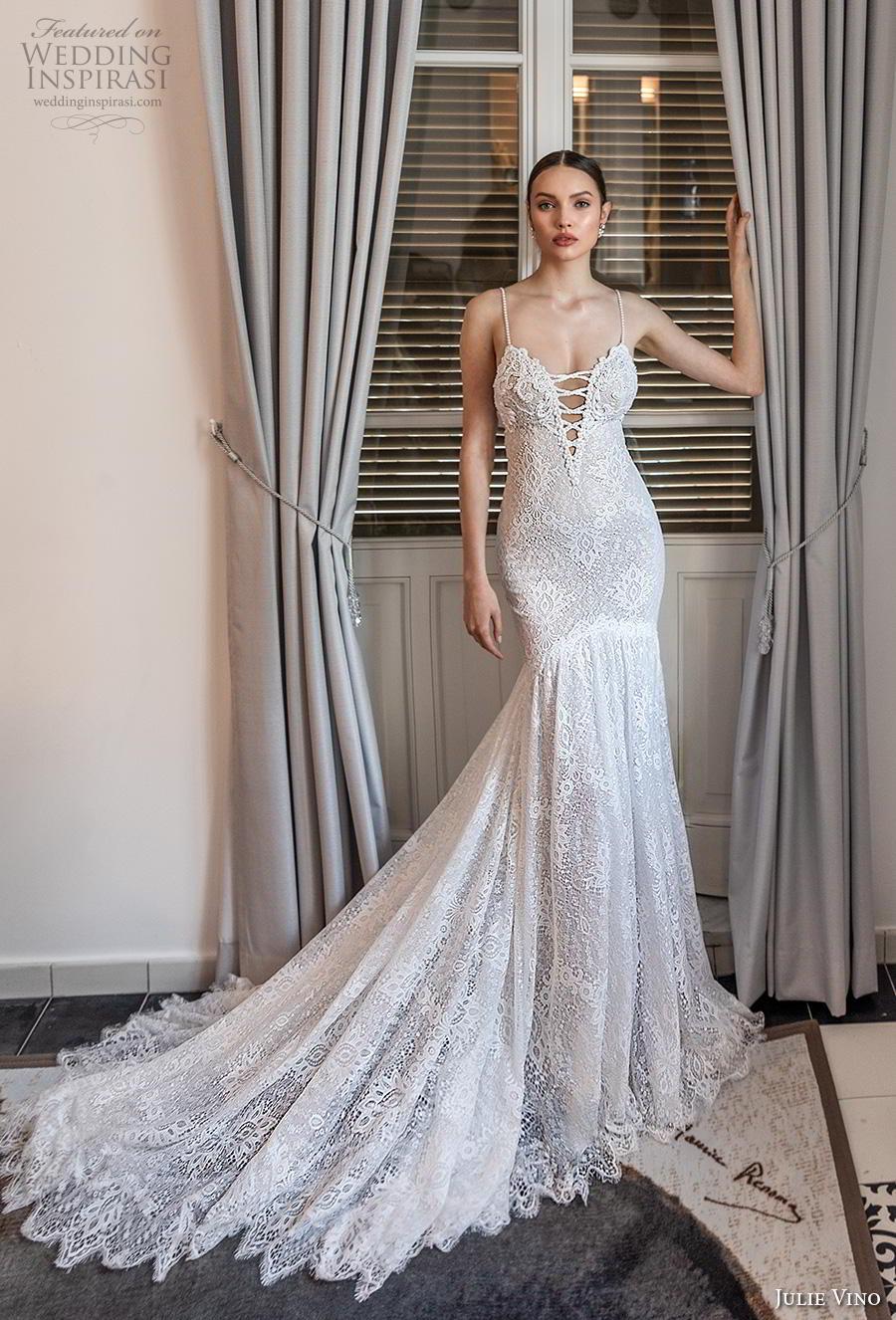 julie vino 2020 romanzo bridal thin strap deep sweetheart neckline full embellishment sexy glamorous mermaid wedding dress backless low back chapel train (1) mv