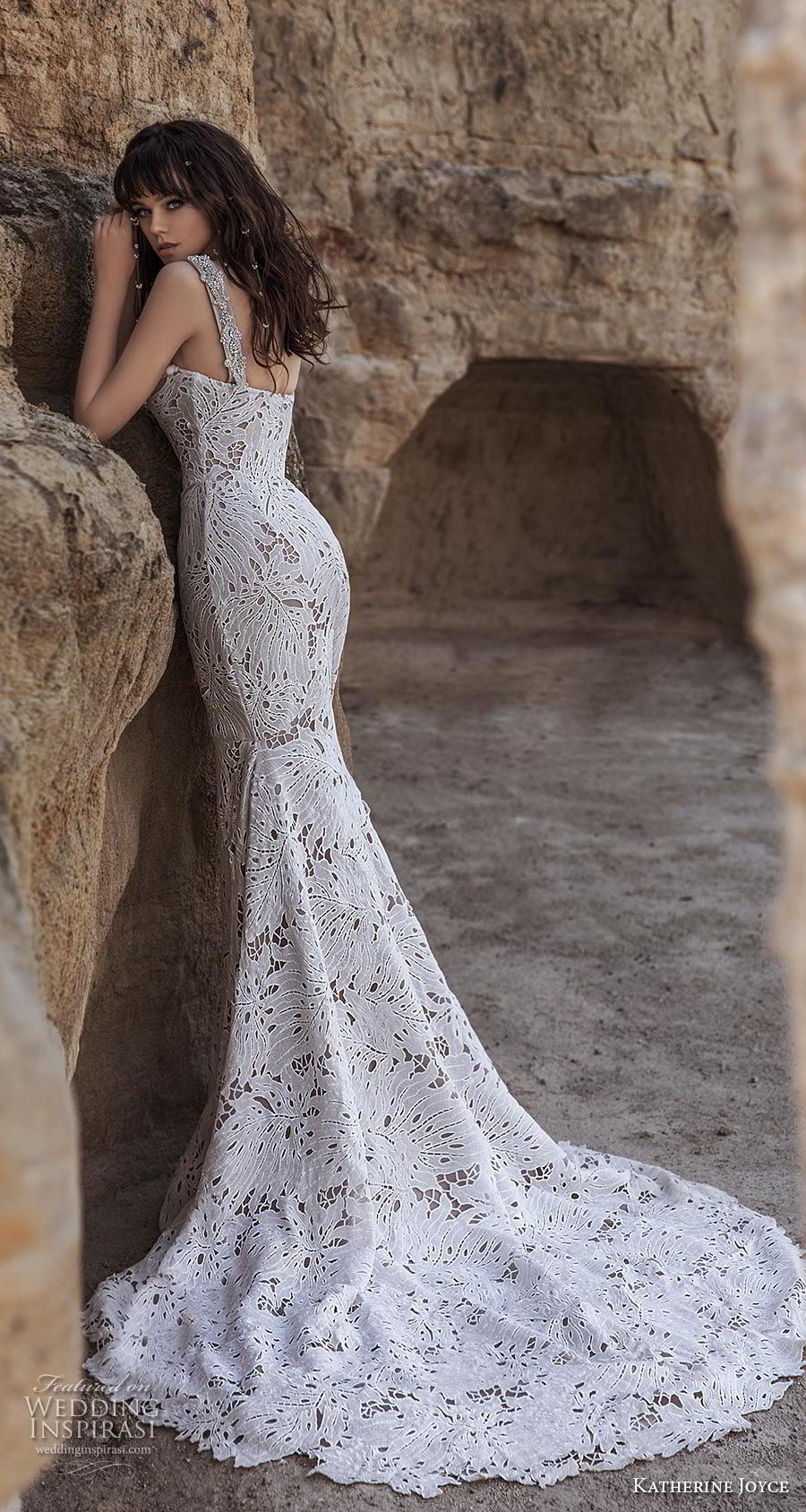 katherine joyce 2020 bridal sleeveless thick strap sweetheart neckline full embellishment elegant fit and flare wedding dress mid back chapel train (15) bv