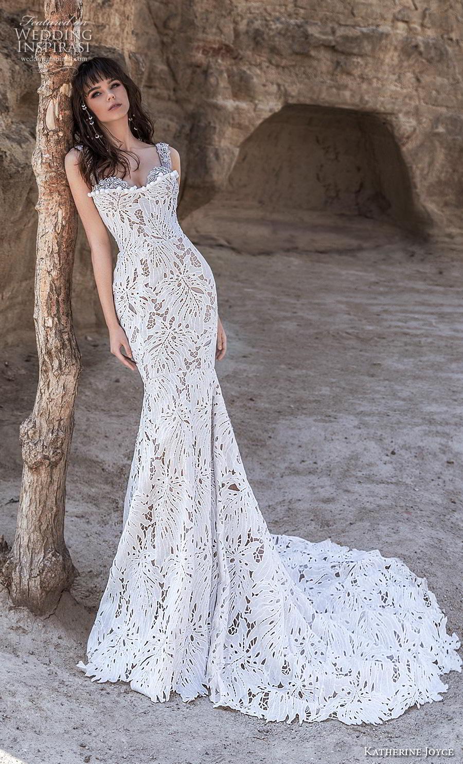katherine joyce 2020 bridal sleeveless thick strap sweetheart neckline full embellishment elegant fit and flare wedding dress mid back chapel train (15) mv