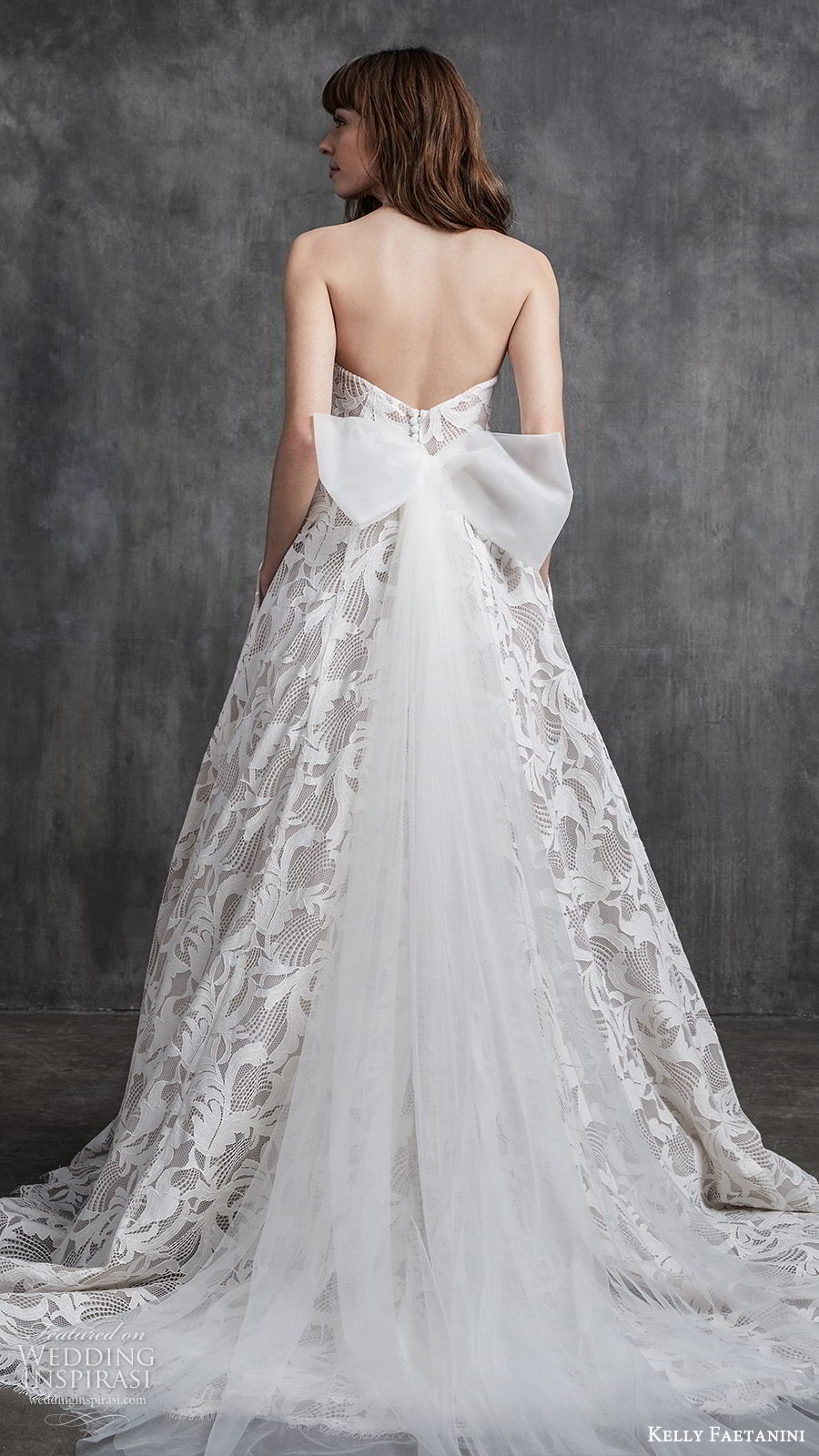 kelly faetanini spring 2020 bridal strapless sweetheart neckline fully embellished lace a line ball gown wedding dress (8) romantic modern chapel train bv