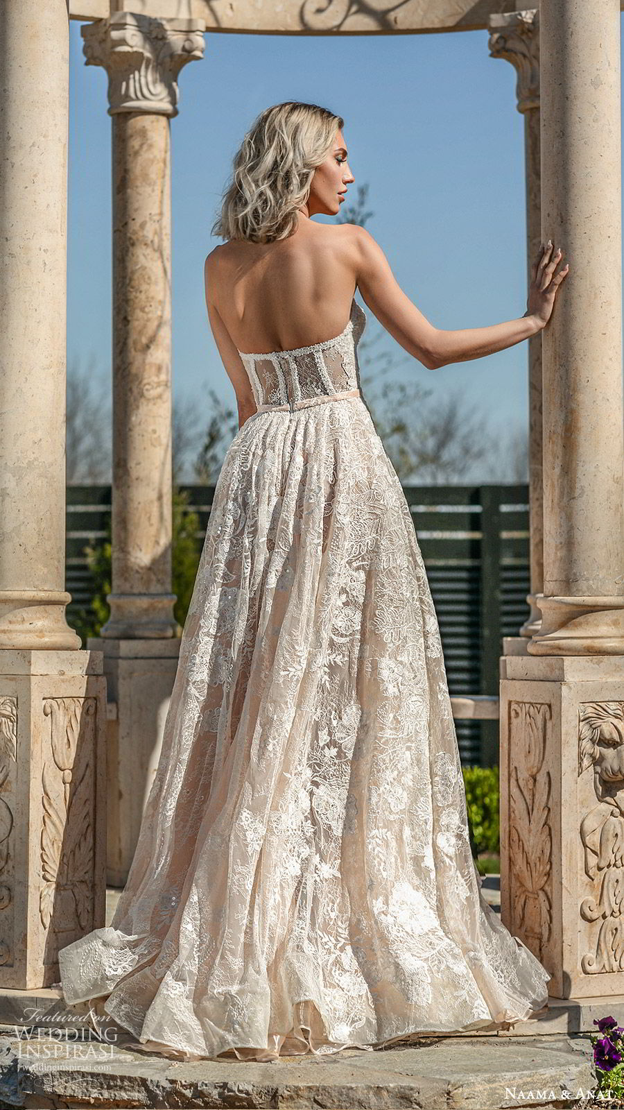 naama anat spring 2020 bridal strapless sweetheart fully embellished a line ball gown wedding dress (3) sweep train romantic elegant bv