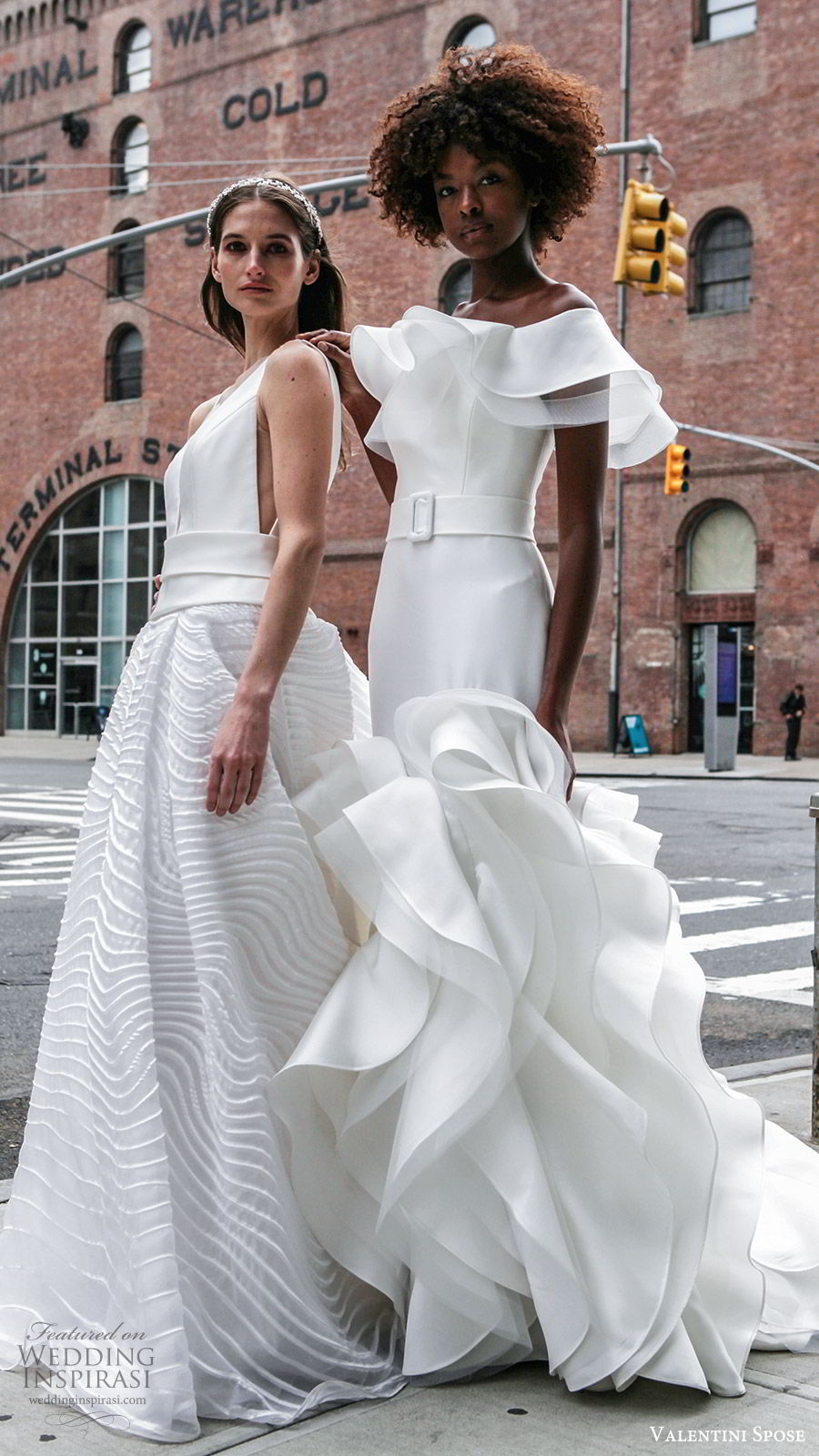 valentini spose spring 2020 bridal sleeveless off shoulder ball gown mermaid wedding dress (20) modern chic mv