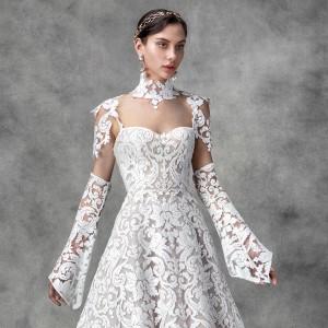 victoria kyriakides spring 2020 bridal collection featured on wedding inspirasi thumbnail