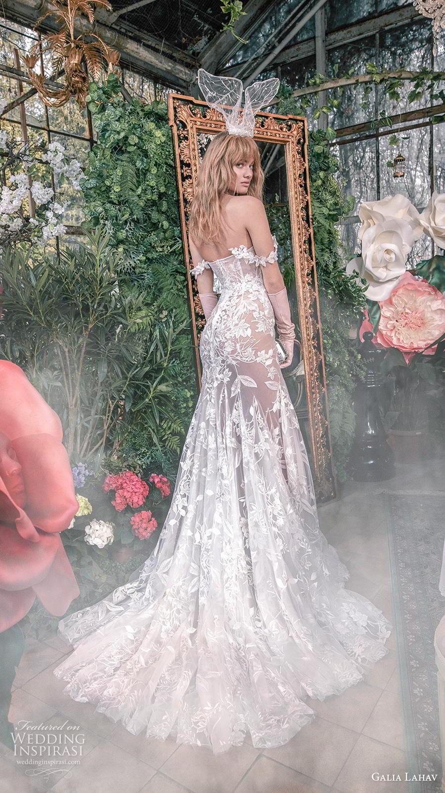 galia lahav s2020 gala bridal off the shoulder sweetheart neckline full embellishment elegant romantic mermaid wedding dress mid back medium train (4) bv
