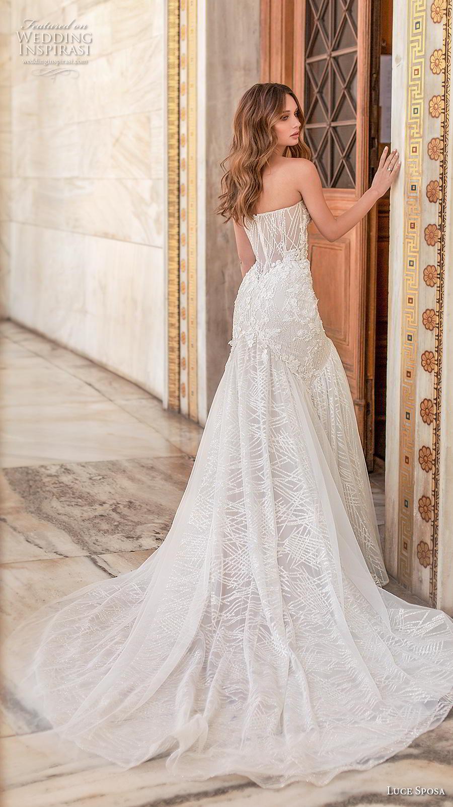 luce sposa 2020 bridal strapless sweetheart neckline heavily embellished bodice elegant sexy mermaid wedding dress mid back chapel train (8) bv