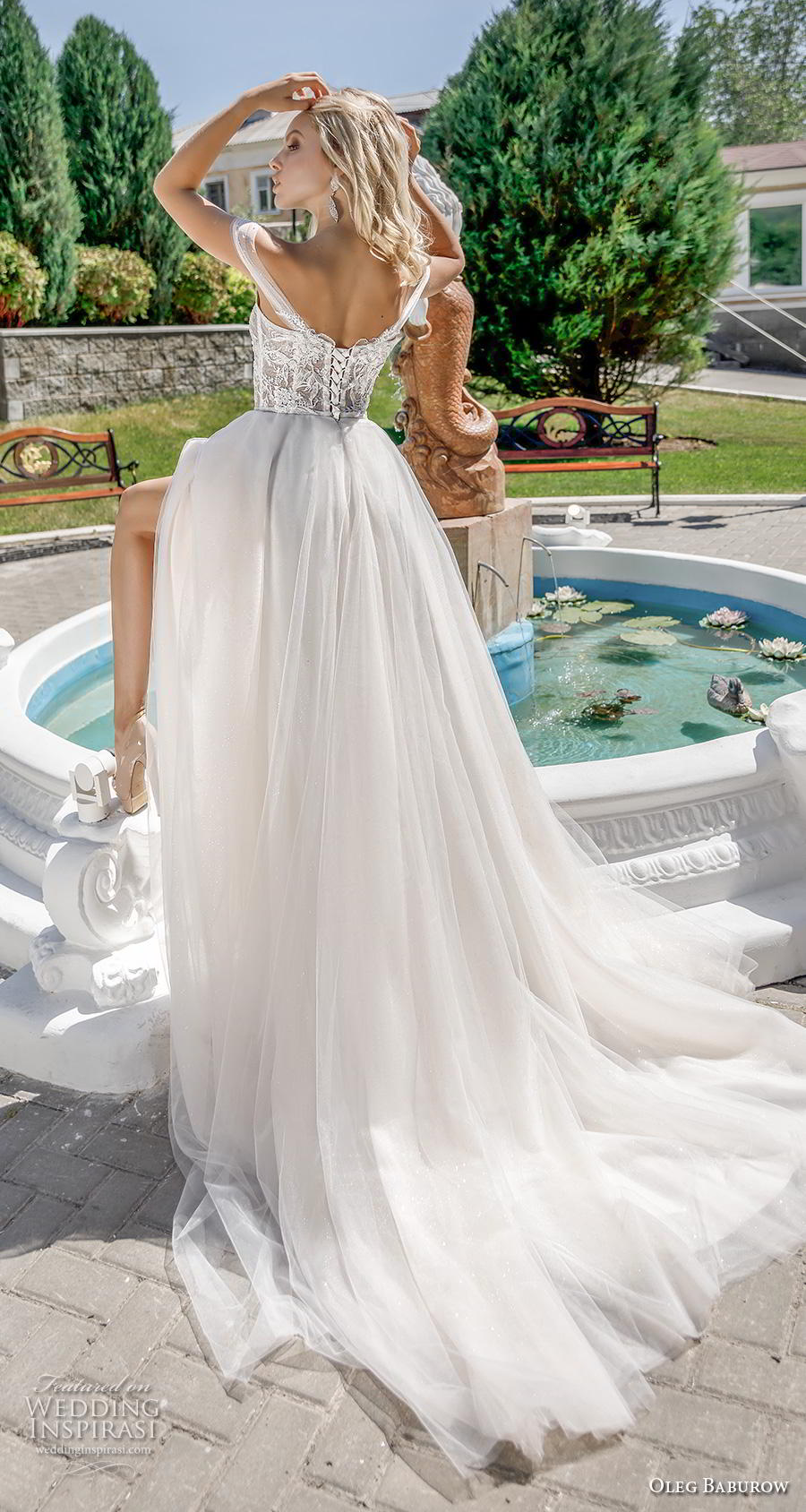 oleg baburow 2020 bridal off the shoulder sweetheart neckline heavily embellished bodice romantic a  line wedding dress mid back chapel train (13) bv
