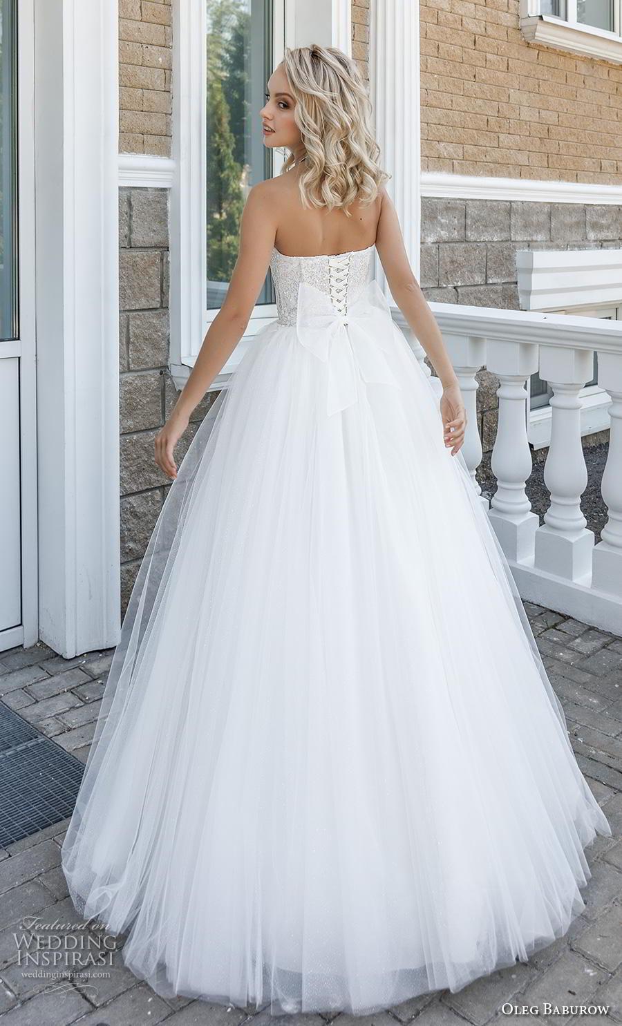 oleg baburow 2020 bridal strapless sweetheart neckline heavily embellished bodice ball gown a  line wedding dress mid back sweep train (8) bv
