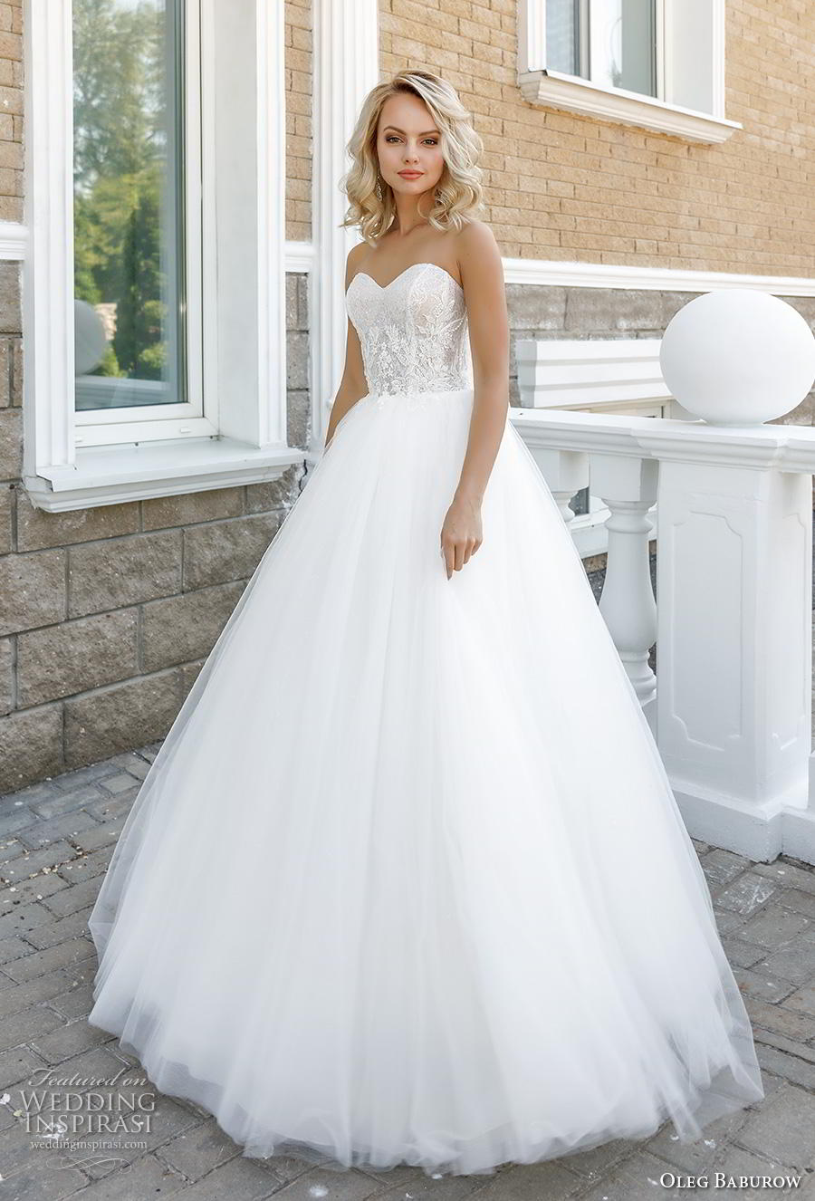 oleg baburow 2020 bridal strapless sweetheart neckline heavily embellished bodice ball gown a  line wedding dress mid back sweep train (8) mv