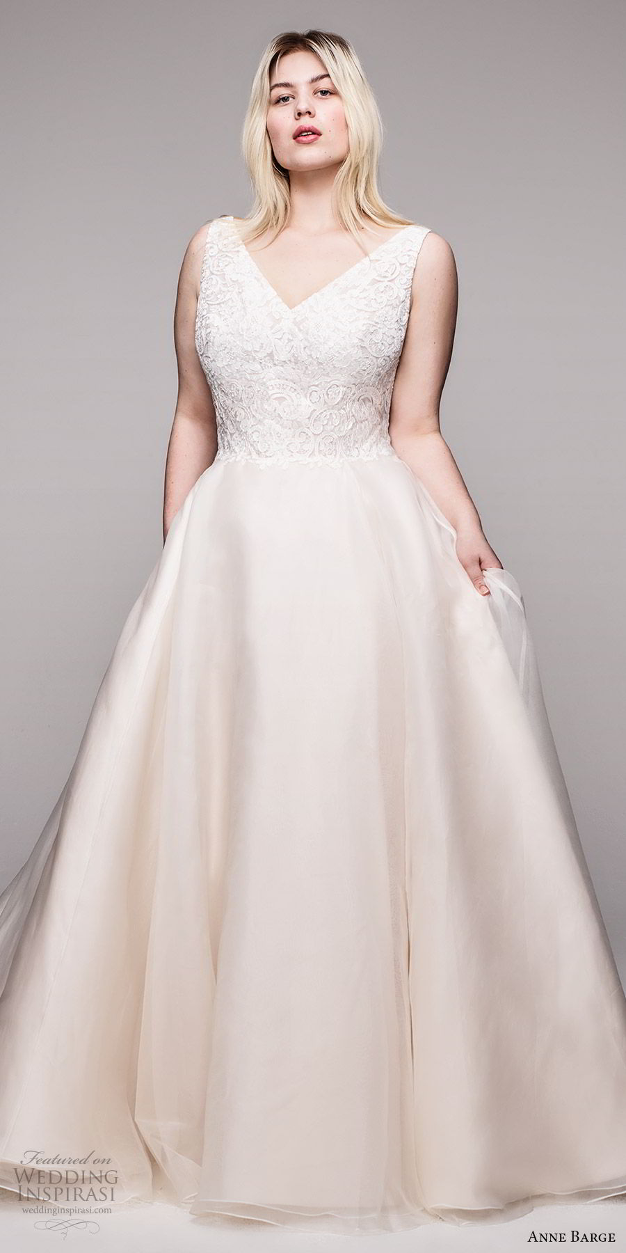 anne barge 2020 bridal plus size sleeveless thick straps v neckline embellished bodice a line ball gown wedding dress (12) elegant romantic blush champagne chapel train mv