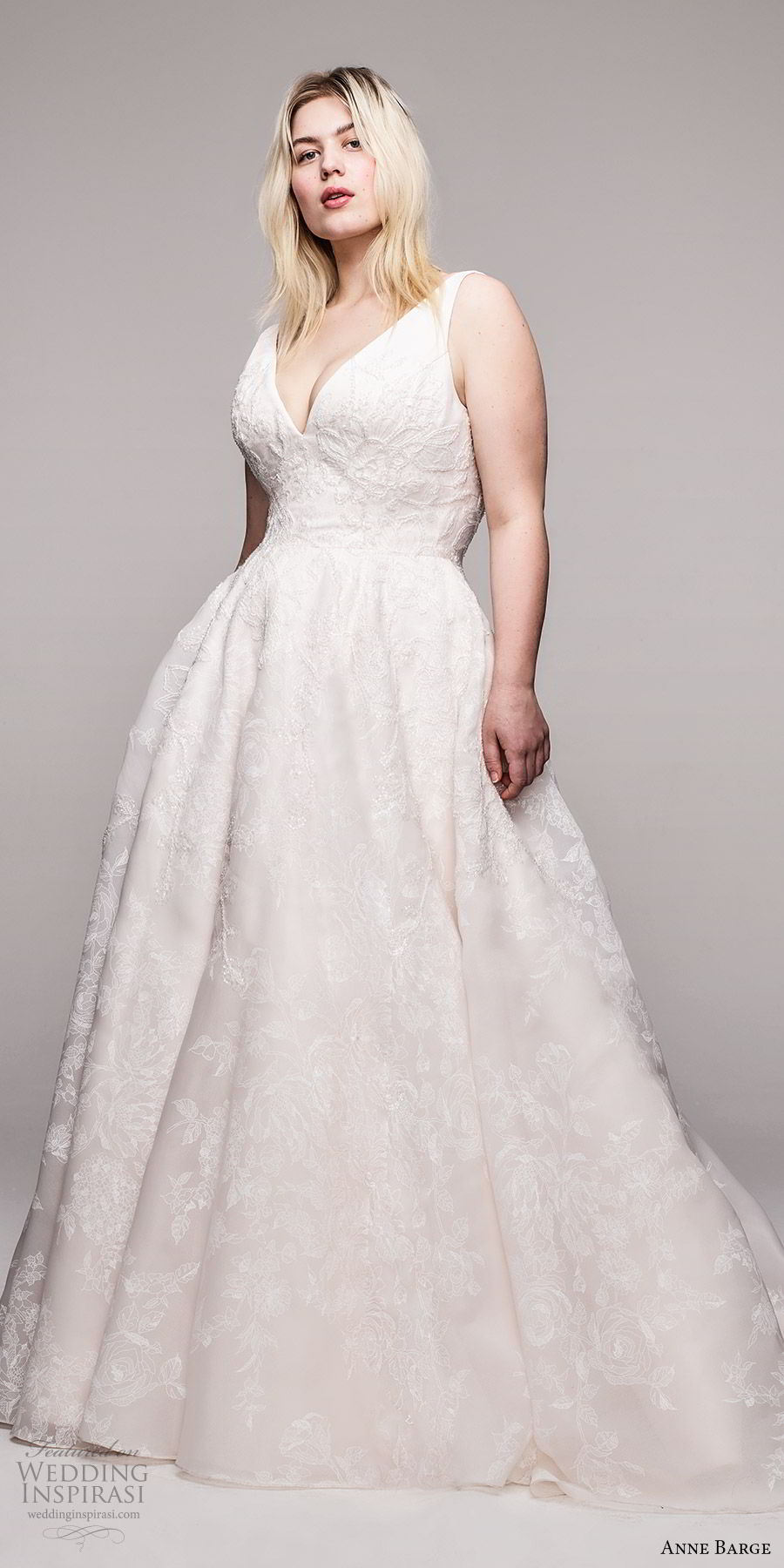 anne barge 2020 bridal plus size sleeveless thick straps v neckline fully embellished a line ball gown wedding dress (5) romantic elegant chapel train mv