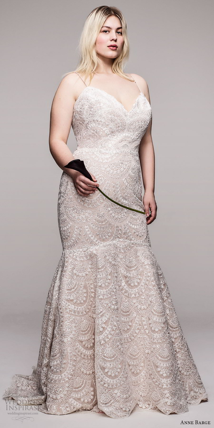 anne barge 2020 bridal plus size sleeveless thin straps sweetheart neckline fully embellished lace fit flare mermaid wedding dress (6) elegant romantic chapel train mv