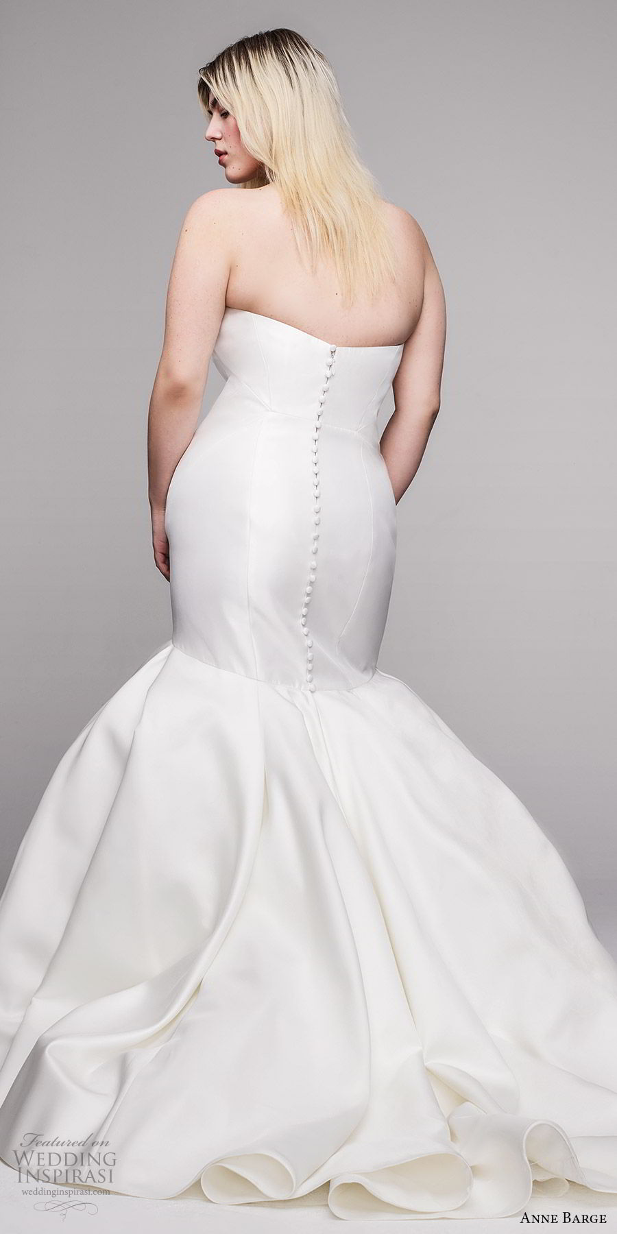 anne barge 2020 bridal plus size strapless sweetheart fit flare mermaid wedding dress (1) clean minimal modern chapel train bv