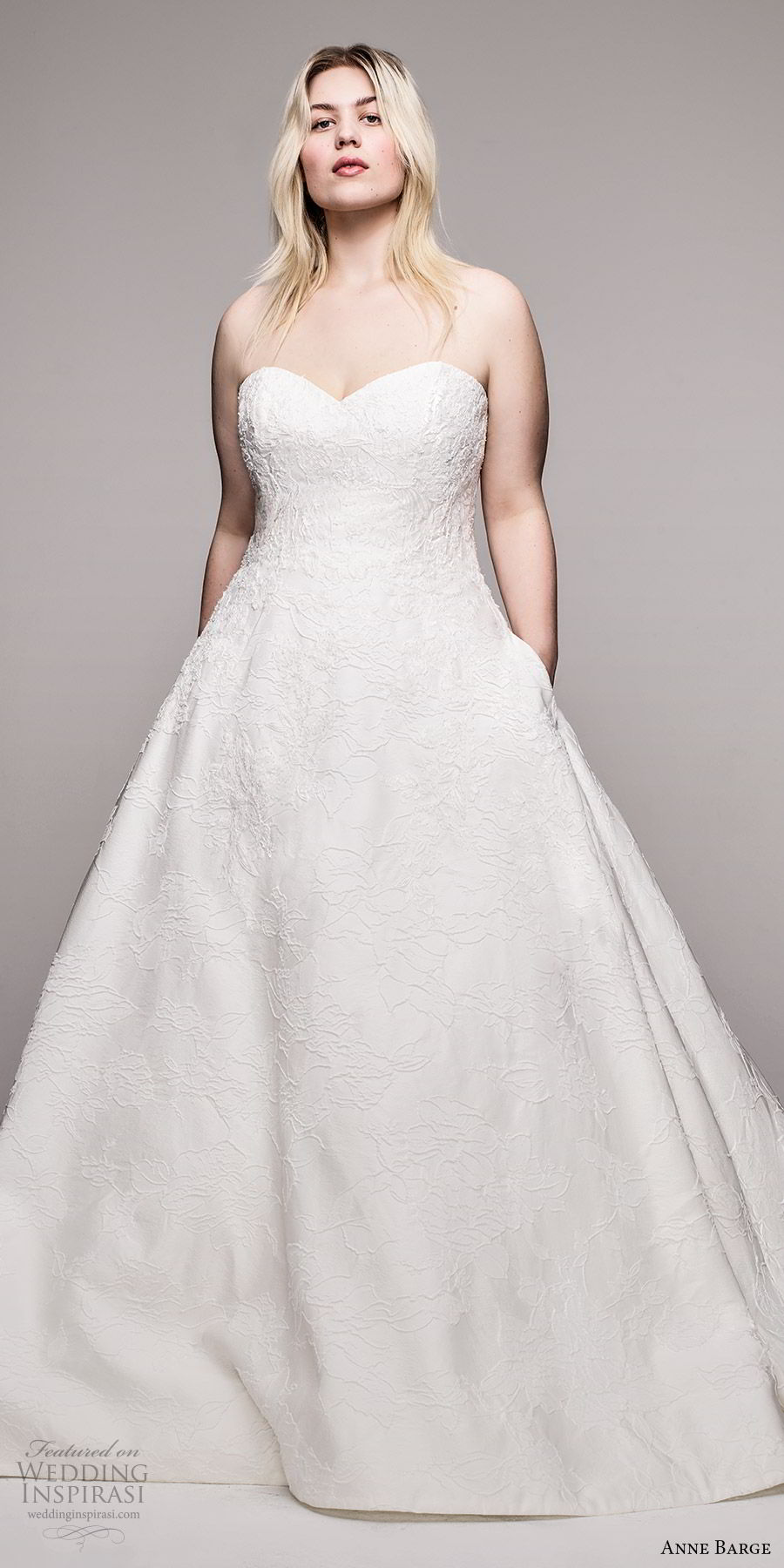 anne barge 2020 bridal plus size strapless sweetheart fully embellished a line ball gown wedding dress (3) romantic princess chapel train mv