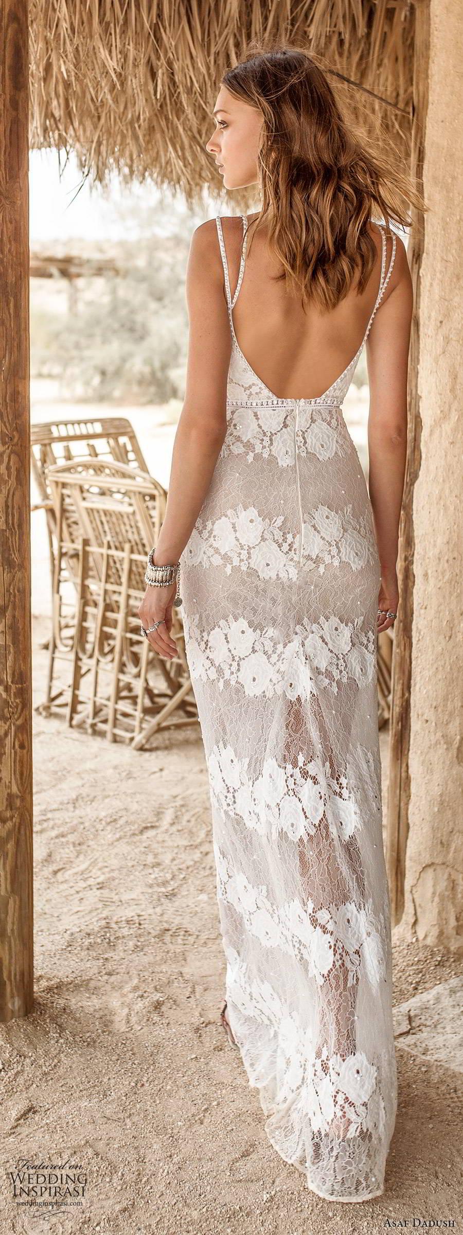 asaf dadush 2019 bridal sleeveless thin straps sweetheart neckline fully embellished lace sexy sheath wedding dress scoop back (2) bv