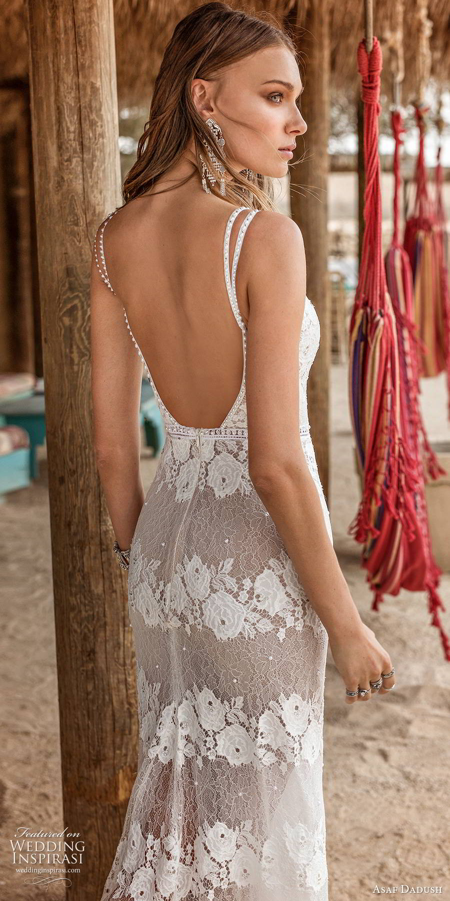 asaf dadush 2019 bridal sleeveless thin straps sweetheart neckline fully embellished lace sexy sheath wedding dress scoop back (2) zbv