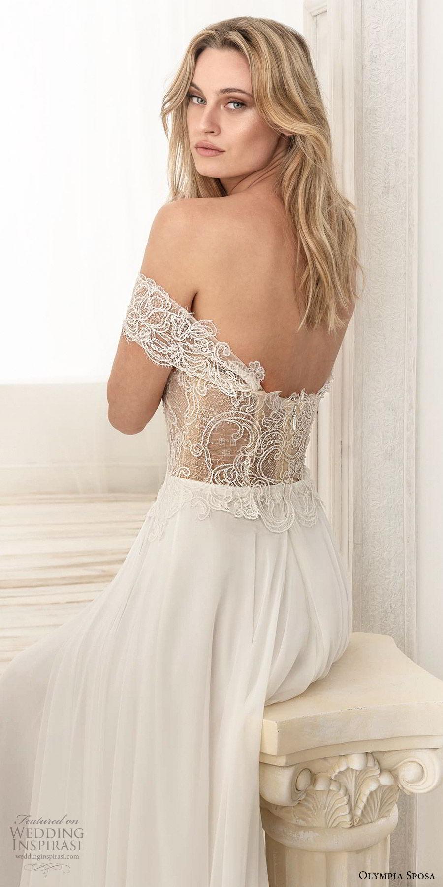 olympia sposa 2020 bridal off shoulder sweetheart neckline embellished bodice a line ball gown wedding dress (1) romantic elegant sweep train zbv