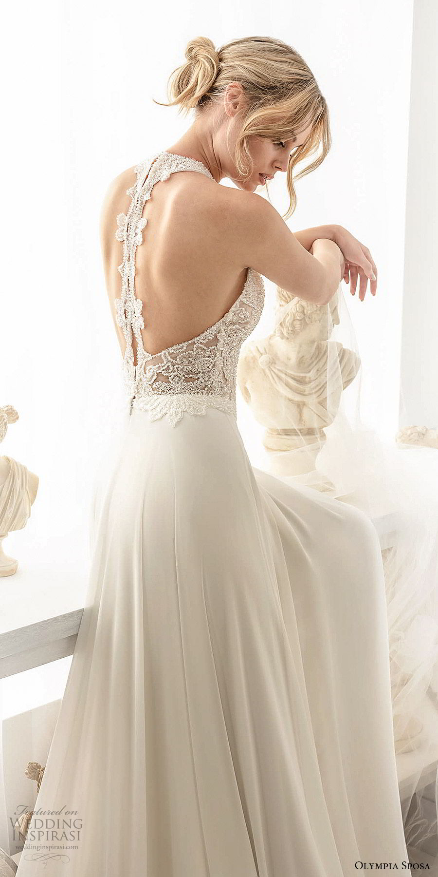olympia sposa 2020 bridal sleeveless halter neck embellished beaded bodice a line wedding dress (5) romantic elegant racer back chapel train zbv