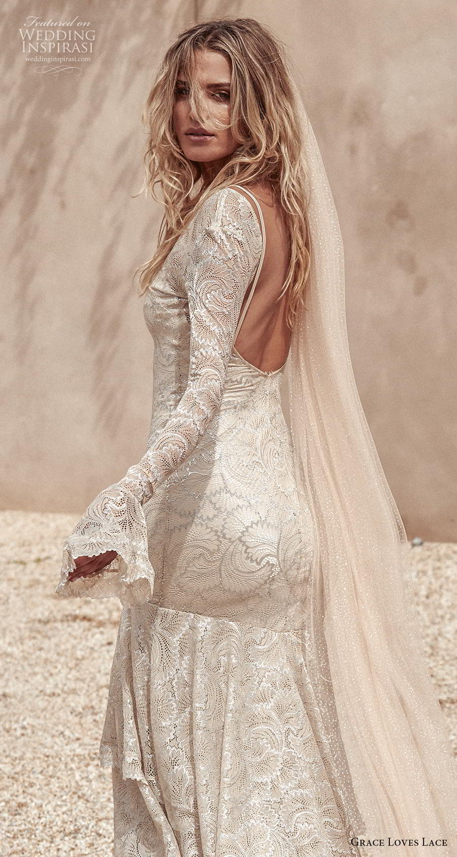 grace love lace 2020 bridal long poet sleeves v neck full embellishment vintage bohemian mermaid wedding dress backless scoop back sweep train (6) zbv