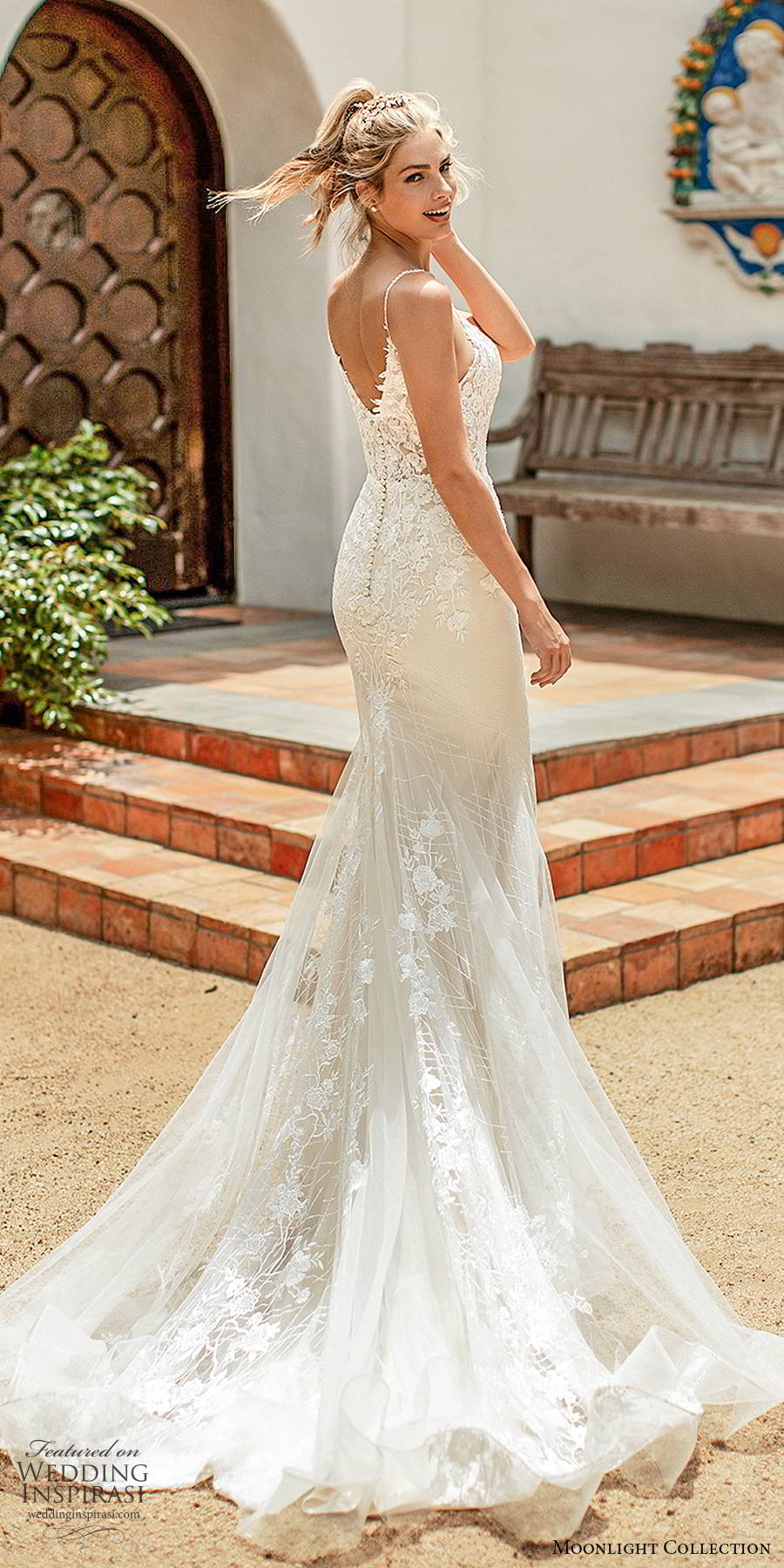 moonlight collection spring 2020 bridal sleeveless thin straps sweetheart neckline embellished bodice elegant romantic sheath mermaid wedding dress scoop back chapel train (5) bv