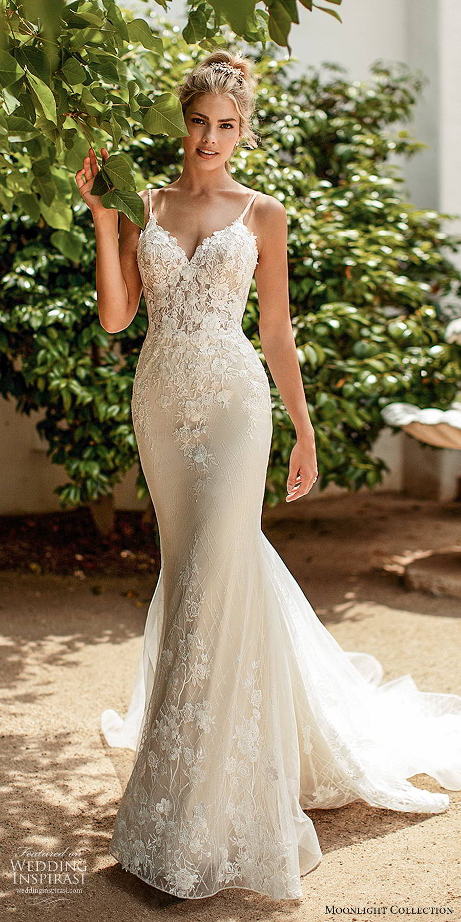 moonlight collection spring 2020 bridal sleeveless thin straps sweetheart neckline embellished bodice elegant romantic sheath mermaid wedding dress scoop back chapel train (5) mv