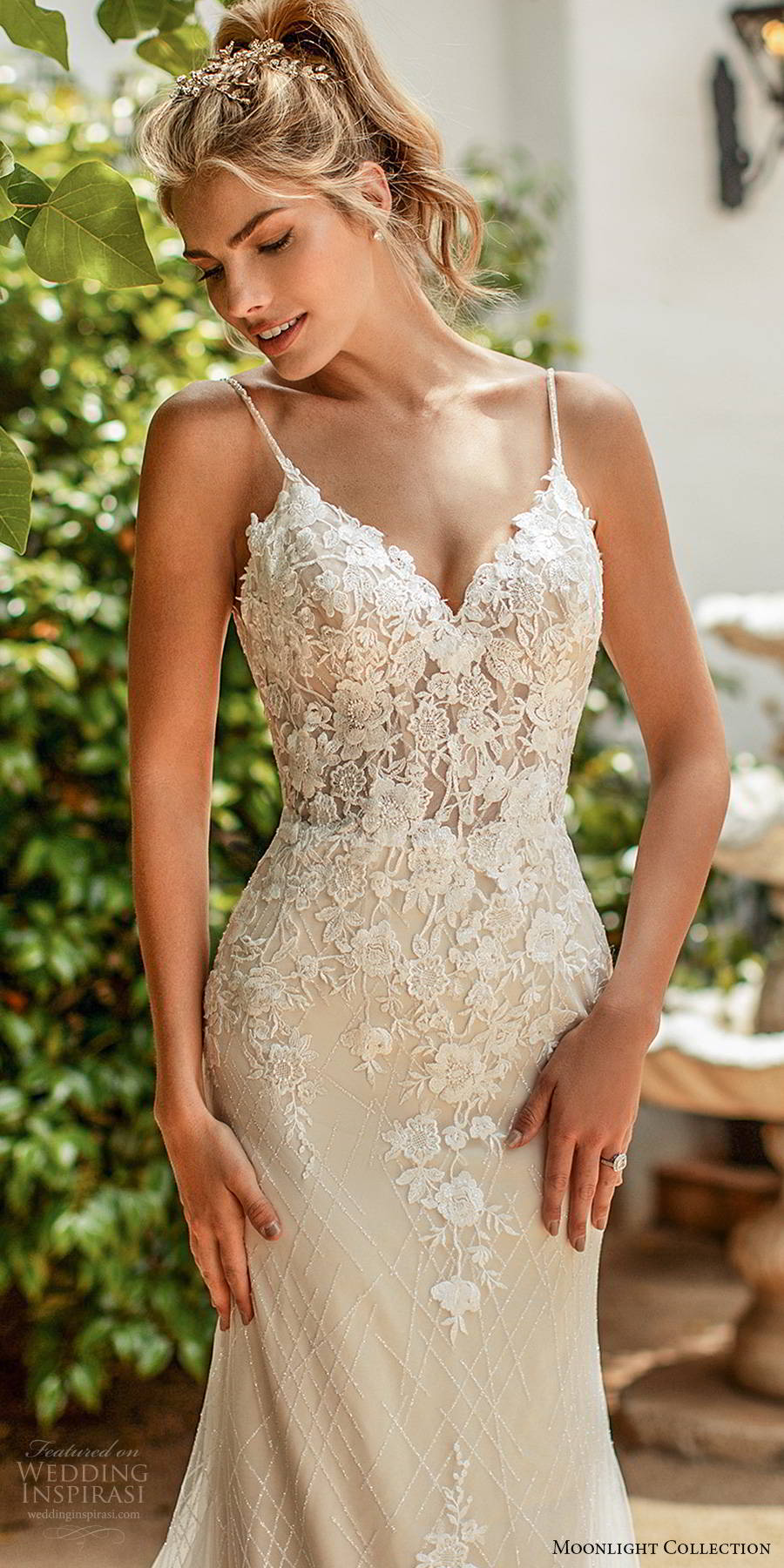 moonlight collection spring 2020 bridal sleeveless thin straps sweetheart neckline embellished bodice elegant romantic sheath mermaid wedding dress scoop back chapel train (5) zv