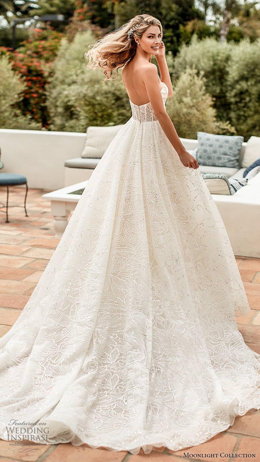 moonlight collection spring 2020 bridal straplesss sweetheart neckline sheer bodice fully embellished glitzy romantic a line ball gown wedding dress chapel train (9) bv