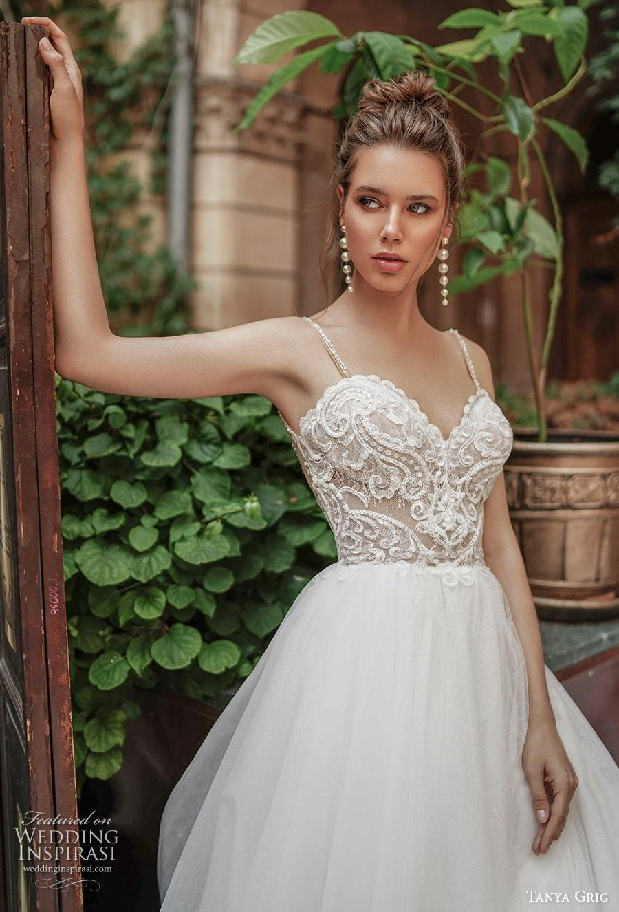 tanya grig 2020 bridal sleeveless spaghetti strap sweetheart neckline heavily embellished bodice romantic soft a  line wedding dress backless chapel train (14) zv