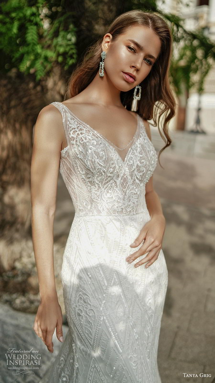 tanya grig 2020 bridal sleeveless with strap v neck full embellishment elegant glamorous fit and flare wedding dress backless sweep train (17) zv