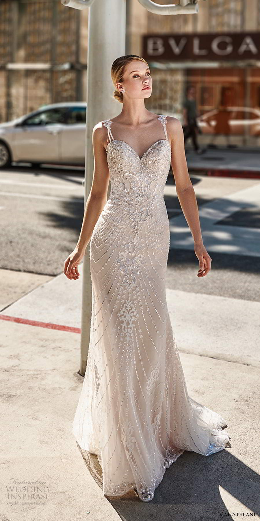 val stefani spring 2020 bridal sleeveless beaded straps sweetheart neckline fully embellished mermaid sheath trumpet wedding dress chapel train (10) mv