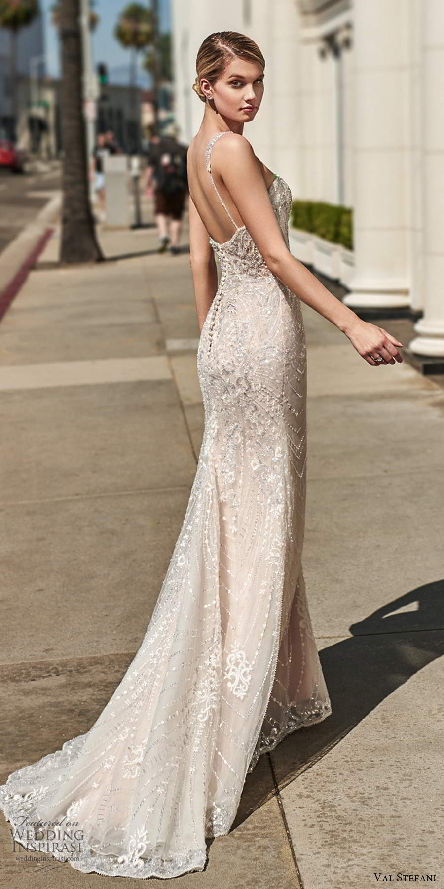 val stefani spring 2020 bridal sleeveless beaded straps sweetheart neckline fully embellished mermaid sheath trumpet wedding dress chapel train (10) sv